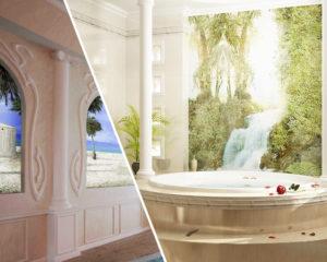 Фреска на стену ванной, бассейна, кухни
